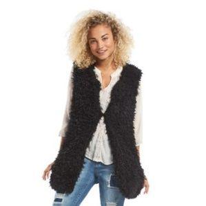 Madden girl fox fur vest size extra large nwot